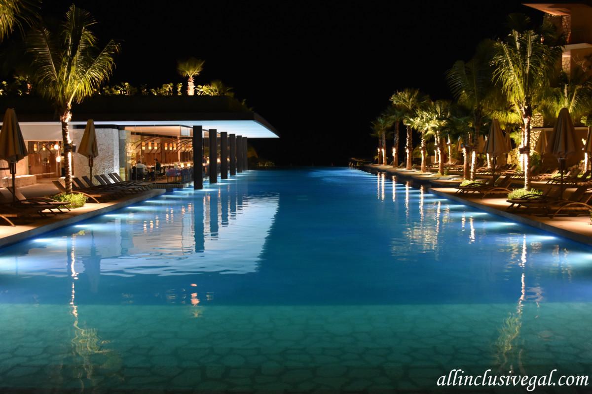 Hotel Xcaret Mexico Main Pool Infinity And La Trajinera Restaurant