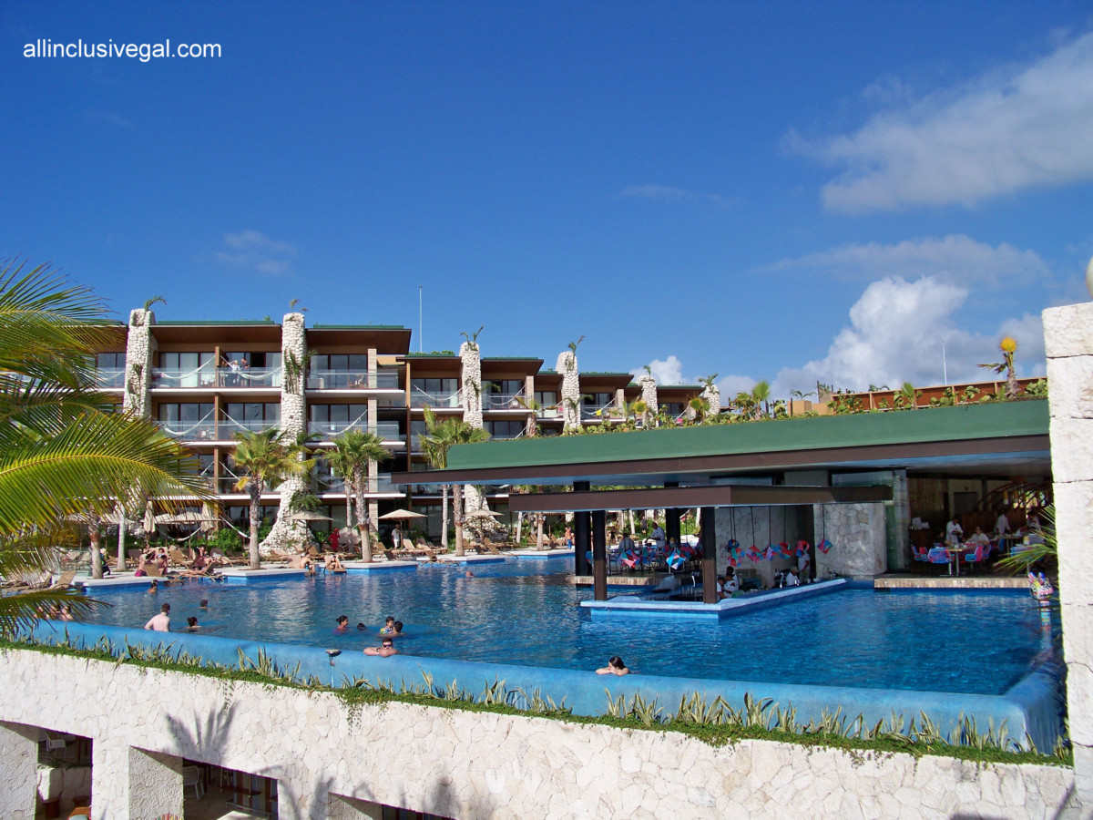 Hotel Xcaret Mexico Main Infinity Pool View Of The And Its Swim Up Bar