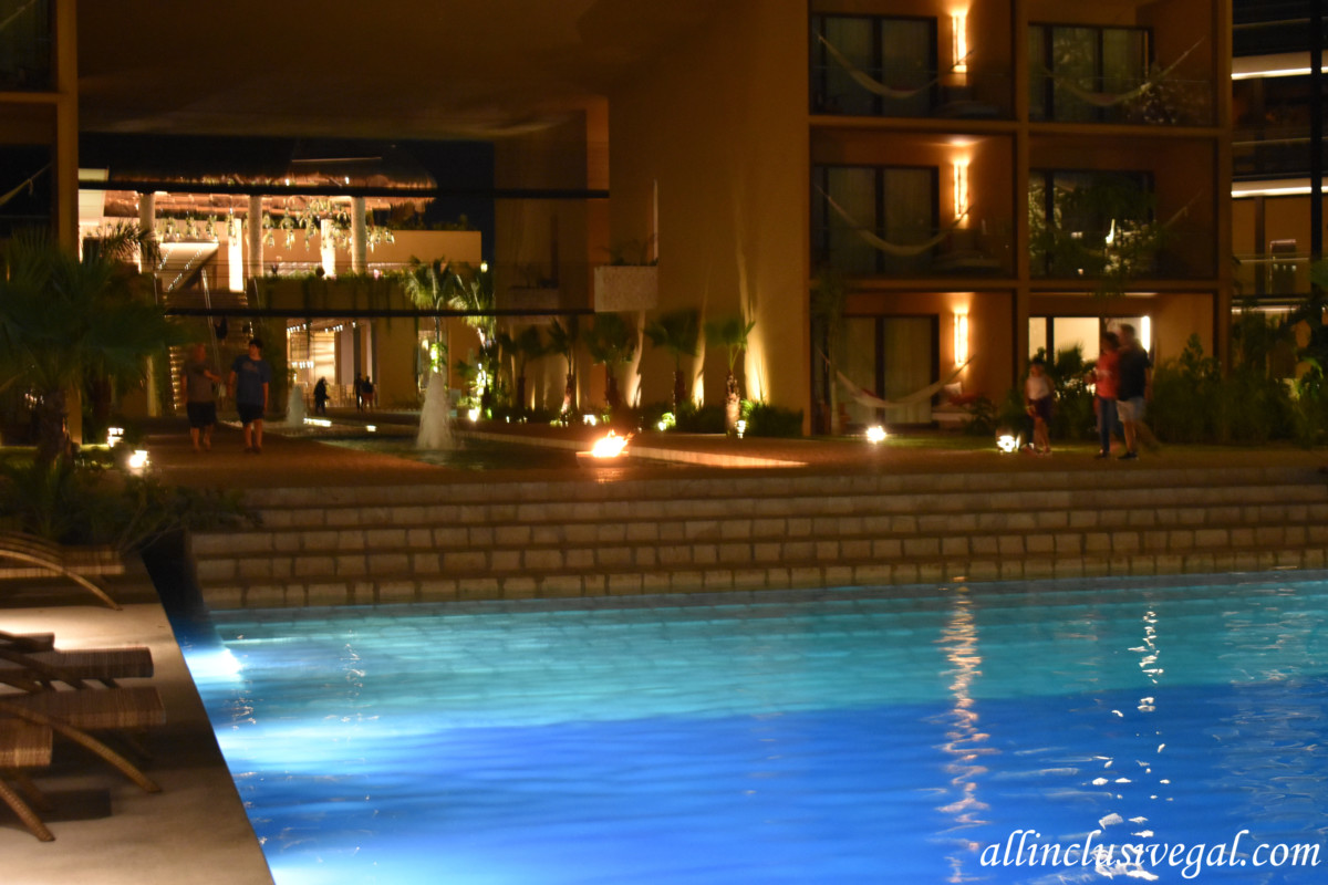 Hotel Xcaret Mexico Main Pool Looking Towards The Lobby